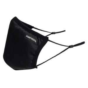 Troslojna zaštitna antimikrobna maska Portwest CV33, 1 komad - crna boja